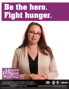 Jennifer Schultz MN FoodShelf March Campaign Hero