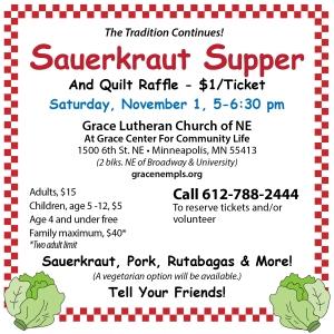 Sauerkraut Supper 11/1/14 at Grace Church